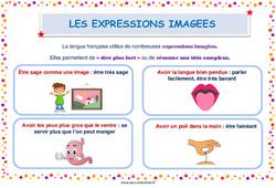 Les expressions imagées - Cycle 3 - affiche de classe