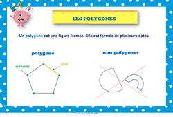 Les polygones - Cycle 2 - Affiche de classe