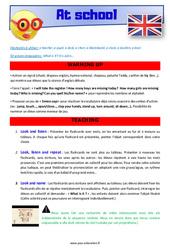 At school – CE1 – CE2 – Anglais – Lexique – Séquence complète – Cycle 2
