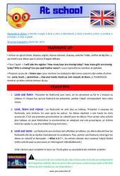 At school – CM1 – CM2 – Anglais – Lexique – Séquence complète – Cycle 3