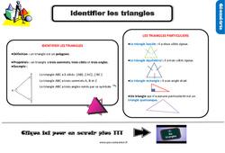 Leçon, trace écrite sur identifier les triangles au Ce2