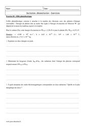 Désexcitation - Excitation - Terminale - Exercices corrigés