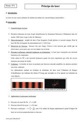 Principe du laser - Terminale - Cours