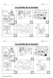 Semaine – Cp – Ce1 – Séquence – Fiche de préparation