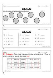 Calcul mental – Cm1 – Exercices et bilan – Semaine 25 à 28