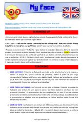 My face – CE1 – CE2 – Anglais – Lexique – Séquence complète – Cycle 2