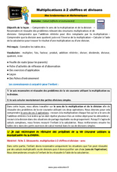 Multiplications à 2 chiffres et divisons – CM1 – CM2 – 6ème – SEGPA – EREA – Décrochage scolaire