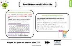 Leçon, trace écrite sur les problèmes multiplicatifs au Ce2