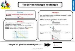 Leçon, trace écrite sur tracer un triangle rectangle au Ce2