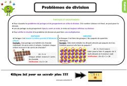 Problèmes de division au Ce2 - Leçon