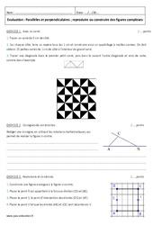 Parallèles et perpendiculaires - 6ème - Contrôle - Reproduire ou construire des figures complexes