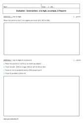 Règle, compas, équerre – 6ème – Evaluation sur la construction