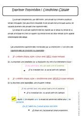 Exprimer l'hypothèse - Conditions Clause - 3ème - Cours