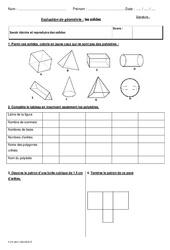 Solides – Cm2 – Bilan à imprimer sur les polyèdres