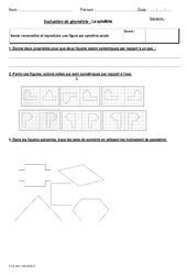 Symétrie axiale – Cm2 – Bilan à imprimer