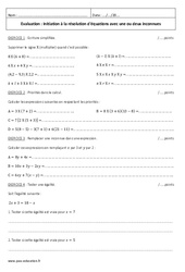 Ecriture simplifiée, priorités dans le calcul – 5ème – Evaluation sur les équations