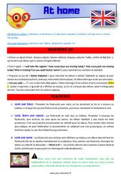 At home – CE1 – CE2 – Anglais – Lexique – Séquence complète – Cycle 2