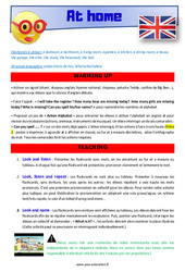 At home – CM1 – CM2 – Anglais – Lexique – Séquence complète – Cycle 3