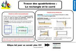 Leçon, trace écrite sur tracer des quadrilatères: le rectangle et le carré au Ce2