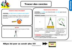 Leçon, trace écrite sur tracer des cercles au Ce2