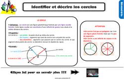 Leçon, trace écrite sur identifier et décrire les cercles au Ce2