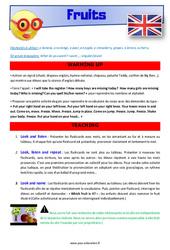 Fruits – CE1 – CE2 – Anglais – Lexique – Séquence complète – Cycle 2