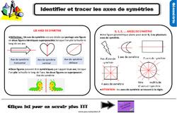 Leçon, trace écrite sur identifier et tracer des axes de symétrie au Ce2