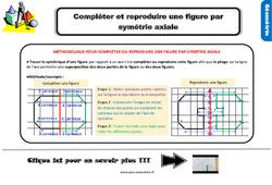 Leçon, trace écrite sur compléter et reproduire une figure par symétrie axiale au Ce2