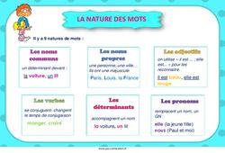 La nature des mots – Cycle 3 – Affiche