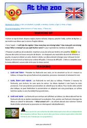 At the zoo – CE1 – CE2 – Anglais – Lexique – Séquence complète – Cycle 2