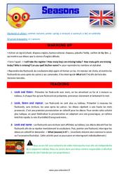Seasons – CE1 – CE2 – Anglais – Lexique – Séquence complète – Cycle 2
