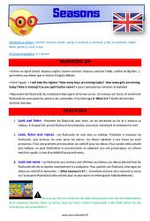 Seasons – CM1 – CM2 – Anglais – Lexique – Séquence complète – Cycle 3