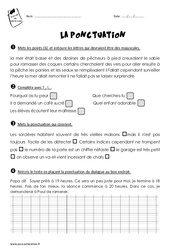 Ponctuation – Ce2 – Exercices