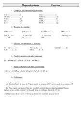Mesures de volume – Cm2 – Exercices – Mesures – Cycle 3