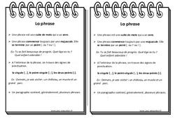 Phrase - Ce2 - Leçon
