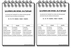 Présent des verbes du 2e groupe - Ce2 - Leçon