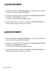 Phrase interrogative – Ce2 – Leçon