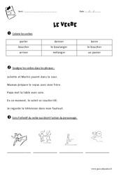 Verbe – Ce1 – Exercices à imprimer