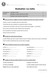 Verbe - Cm1 - Evaluation - Bilan