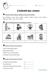 Infinitif des verbes - Ce1 - Exercices