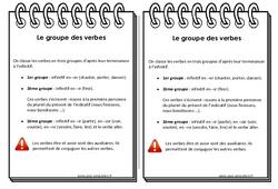 Groupe des verbes - Ce2 - Leçon