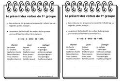 Verbes du 1er groupe au présent - Ce2 - Leçon