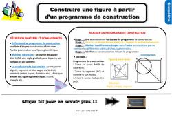Leçon, trace écrite sur construire une figure à partir d'un programme de construction au Ce2