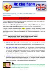At the farm – CE1 – CE2 – Anglais – Lexique – Séquence complète – Cycle 2
