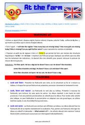 At the farm – CM1 – CM2 – Anglais – Lexique – Séquence complète – Cycle 3