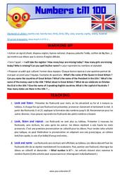 Numbers till 100 – CM1 – CM2 – Anglais – Lexique – Séquence complète – Cycle 3