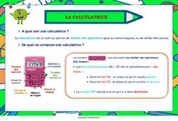 La calculatrice - Ce2 - Cm1 - Cm2 - Affiche de classe