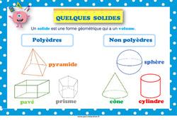 Quelques solides - Ce2 - Cm1 - Cm2 - Affiche de classe