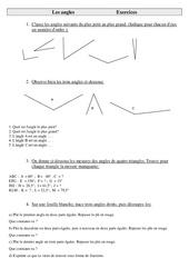 Mesure sur Les angles  – Cm2 – Exercices – Géométrie – Cycle 3
