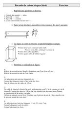 Formule du volume du pavé droit - Cm2 - Exercices - Cycle 3